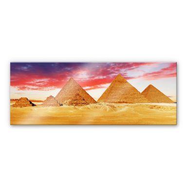 Acrylglasbild Die Pyramiden von Gizeh - Panorama
