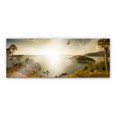 Acrylglas Zonsondergang in het Paradijs