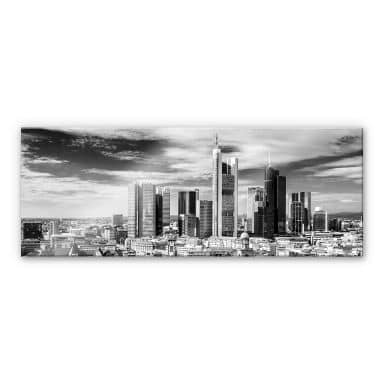 Tableau en verre acrylique - Skyline de Francfort - Panorama