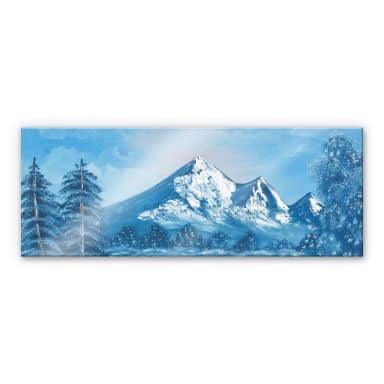 Acrylglasbild Toetzke - Alpsee in den Bergen - Panorama