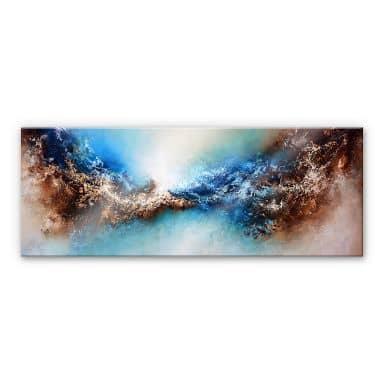 Acrylglasbild Fedrau - Blended 02 - Panorama