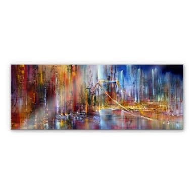 Acrylic print Schmucker - City Sight - panorama