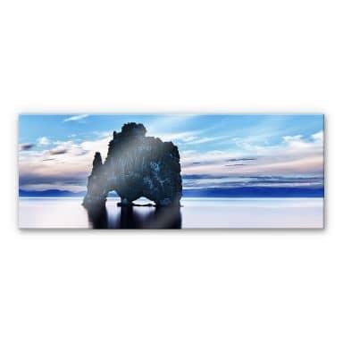 XXL Wandbild Felsen im Meer - Panorama