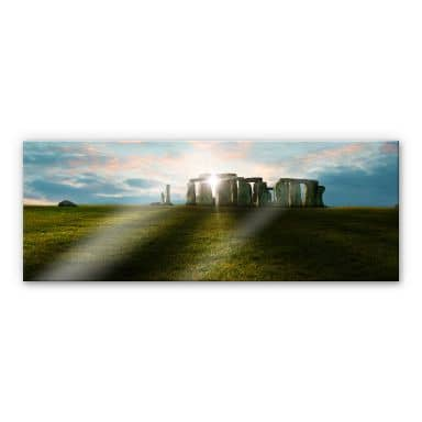 XXL Wall Picture Stonehenge in the Sunset - Panorama