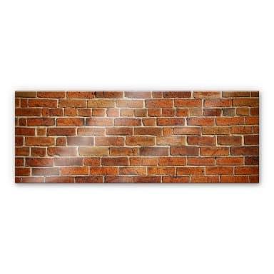 XXL Wandbild Ziegelsteinmauer Panorama