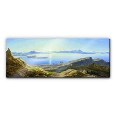 Acrylglasbild Ahlborn - Küstenlandschaft am Golfvon Neapel
