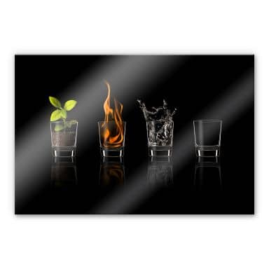 Tableau en verre acrylique -Frutos Vargas - The Four Elements