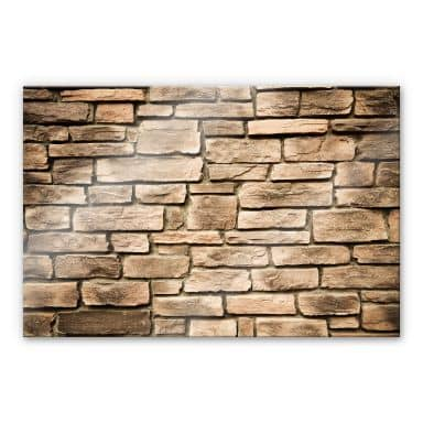 Italian Stone Wall - Acrylic Glass
