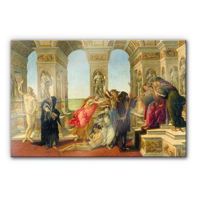 Acrylglasbild Botticelli - Die Verleumdung des Apelles