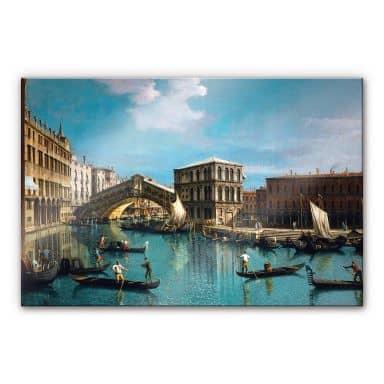Acrylglasbild Canaletto - Die Rialtobrücke in Venedig