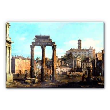Acrylglasbild Canaletto - Forum mit Tempel von Kastor und Pollux