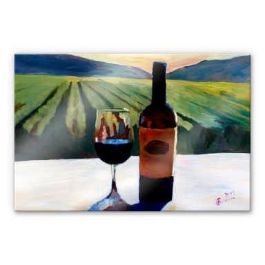 Acrylglasbild Bleichner - Wein in Napa Valley