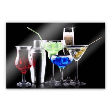 Acrylglasbild Girly Cocktails