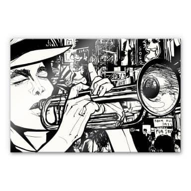 Acrylglasbild Sound of a Street Musician