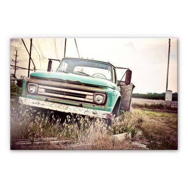 Acrylglasbild American rusted Truck