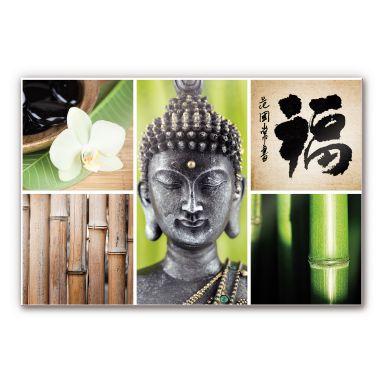 Acrylglasbild Asian Spa