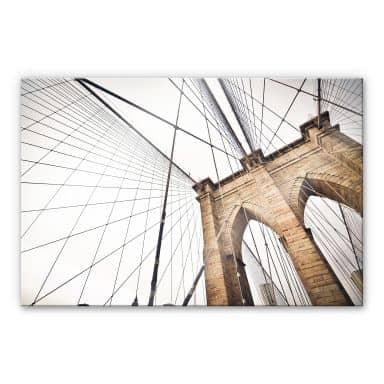 Tableau en verre acrylique - Brooklyn Bridge - Perspective 02