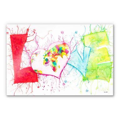 Acrylglasbild Buttafly - Love