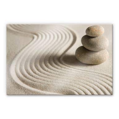 Stone in Sand 2 - XXL Acrylic Glass