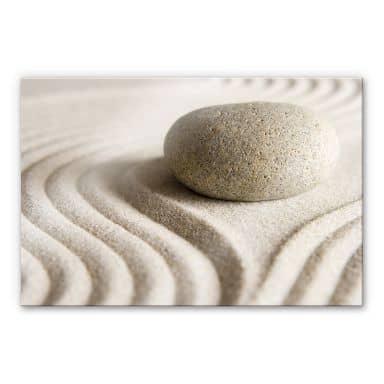 Acrylglasbild Stone in Sand 1