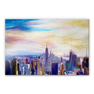 Acrylglas Bleichner - Zicht op New York City