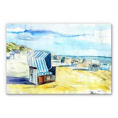 Acrylic glass Bleichner - Beach on Sylt