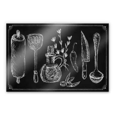 Acrylic glass Rustic Kitchen
