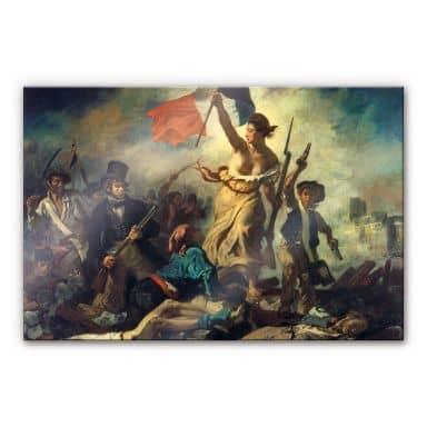 Acrylglasbild Delacroix - Die Freiheit führt das