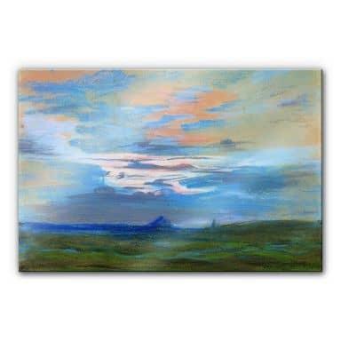 Acrylglasbild Delacroix - Himmelsstudie bei Sonnen