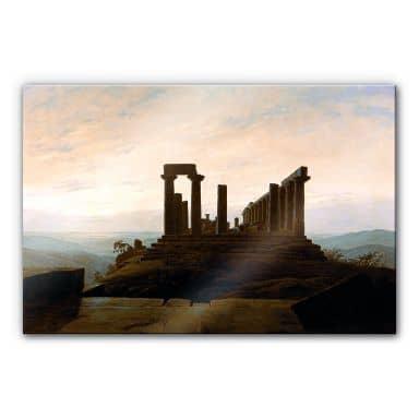 Acrylglasbild Friedrich - Der Junotempel in Agrige