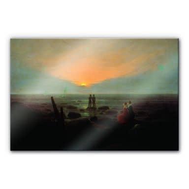 Acrylglasbild Friedrich - Mondaufgang über dem Me