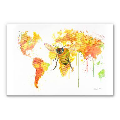 Acrylglasbild Buttafly - Bees World