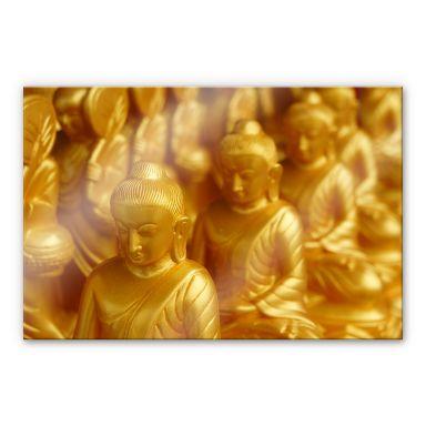 Acrylglasbild Golden Buddha