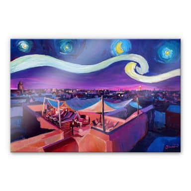 Acrylglasbild Bleichner - Marrakesch bei Nacht
