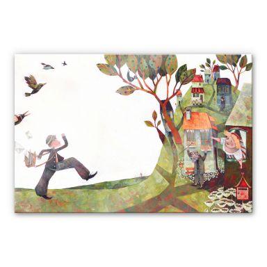 Acrylglasbild Blanz - Der Briefträger
