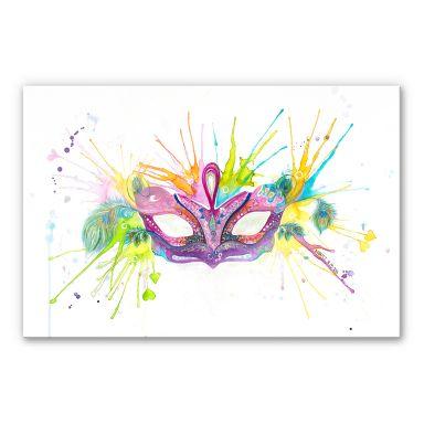 Acrylglasbild Buttafly - Mardi Gras