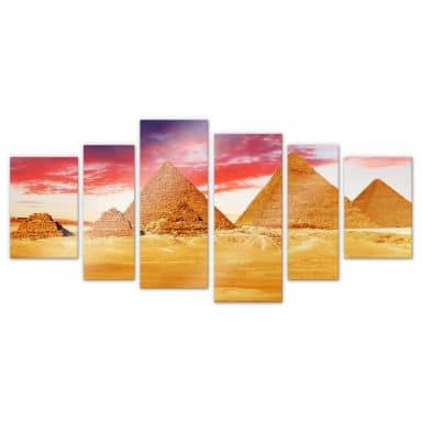 Acrylic glass The pyramids of Gizeh (6-piece)