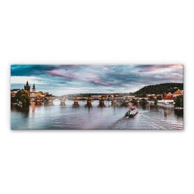 Acrylglasbild Sonnenuntergang in Prag