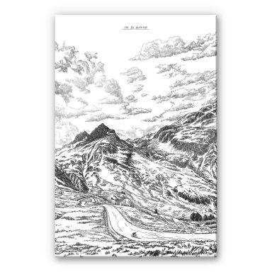 Acrylglasbild Sparshott - Col du Glandon