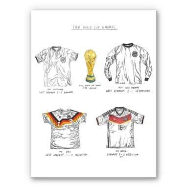Acrylglasbild Sparshott - Fußballtrikots Deutschland