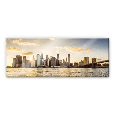 Acrylic Print Sunset in Manhattan
