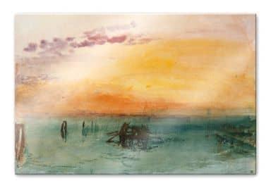 Acrylglasbild Turner - Venedig von Fusina aus gesehen