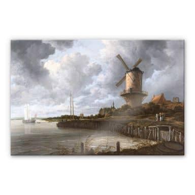 Acrylglasbild van Ruisdael - Die Windmühle von Wijk bei Duurstede