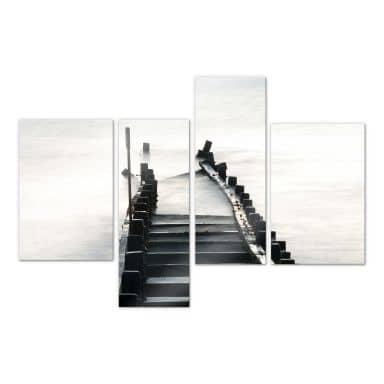 Acrylglasbild Way to nowhere 01 (4-teilig)