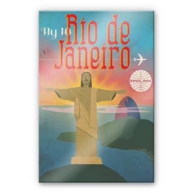 Acrylglasbild Fly to Rio de Janeiro