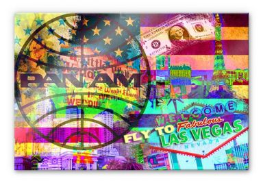 Acrylglasbild PAN AM - Las Vegas