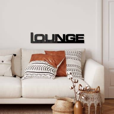 Lounge (black) Acrylic letters