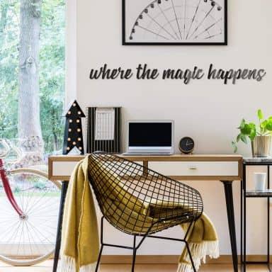 Lettres décoratives en verre acrylique - Where the magic happens