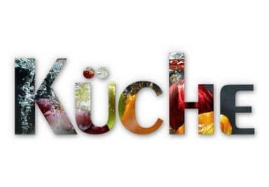 Acrylbuchstaben Küche