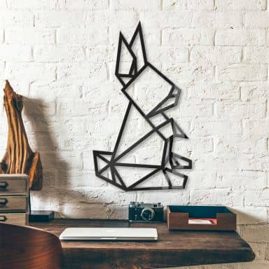 Origami Hare – acrylic